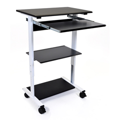 LUXSTAND-WS30 - LuxorMobile 3 Shelf Adjustable Stand Up Workstation