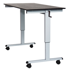 LUXSTANDCF60-BK-BO - LuxorCrank Adjustable Stand Up Desk