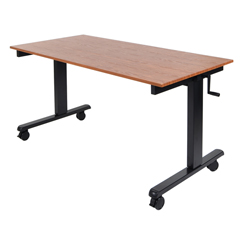 LUXSTANDCF60-BK-TK - LuxorCrank Adjustable Stand Up Desk