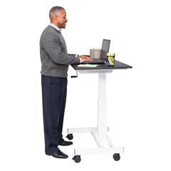 LUXSTANDUP-SC40-WB - Luxor - 40 Single Column Crank Stand Up Desk