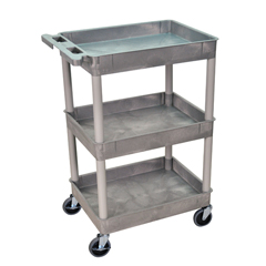 LUXSTC111-G - Luxor - 3-Shelf Tub Cart