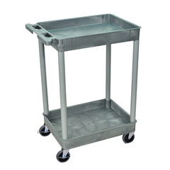 LUXSTC11-G - Luxor - 2-Shelf Tub Cart
