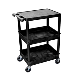 LUXSTC211-B - Luxor - 3-Shelf Tub Cart