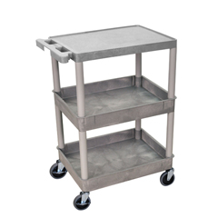 LUXSTC211-G - Luxor3-Shelf Tub Cart