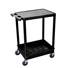 LUXSTC21-B - Luxor - 2-Shelf Tub Cart