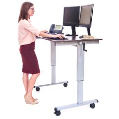 LUXSTANDUP-CF48-DW - Luxor - 48 Crank Adjustable Stand Up Desk