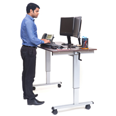 LUXSTANDUP-CF60-DW - Luxor - 60 Crank Adjustable Stand Up Desk