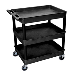 LUXTC111-B - Luxor3-Shelf Tub Cart