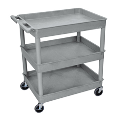 LUXTC111-G - Luxor3-Shelf Tub Cart