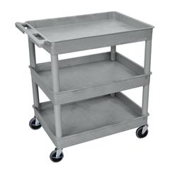LUXTC111-G - Luxor - 3-Shelf Tub Cart