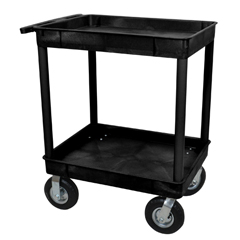 LUXTC11P8-B - LuxorBlack 2 Tub Cart W/ P8 Casters