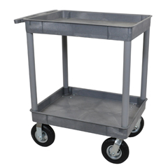 LUXTC11P8-G - LuxorGray 2 Tub Cart W/ P8 Casters