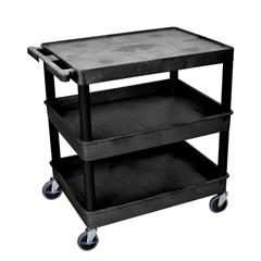 LUXTC211-B - Luxor - 3-Shelf Tub Cart