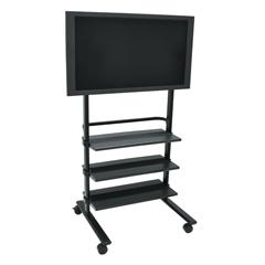 LUXWFP100-B - LuxorLCD TV Stand w/ Shelves