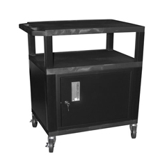 LUXWT34C2E - LuxorTuffy Cart with Cabinet