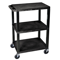LUXWT34S - LuxorTuffy Utility Cart - Three Shelves
