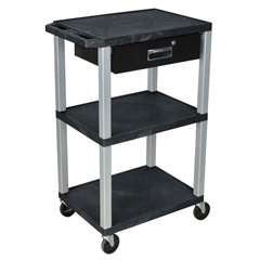 LUXWT42E-N-WTD - LuxorMultipurpose Utility Cart with Drawer
