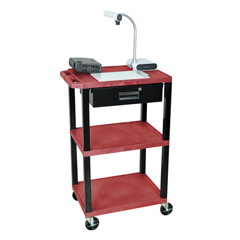 LUXWT42RE-B-WTD - LuxorMultipurpose Utility Cart with Drawer