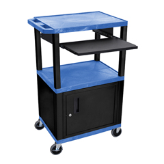 LUXWTPS42BUC2E-B - LuxorPresentation Cart with Cabinet & Pull Out Tray
