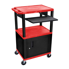LUXWTPS42RC2E-B - LuxorPresentation Cart with Cabinet & Pull Out Tray
