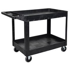 LUXXLC11-B - LuxorTwo-Shelf Heavy-Duty Utility Cart