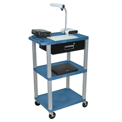 LUXWT42BUE-N-WTD - LuxorMultipurpose Utility Cart with Drawer