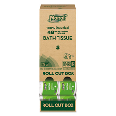 MAC6495 - MarcalPro Roll Out 100% Recycled Two-Ply Bath Tissue