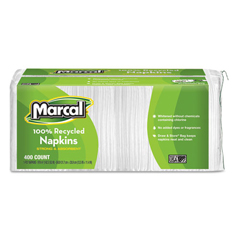 MAC6506 - Small Steps® 100% Premium Recycled White Luncheon Napkins