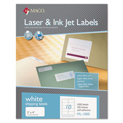 MACML1000 - Maco® White Multipurpose Labels