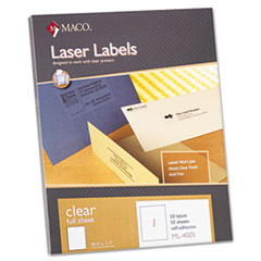 MACML4005 - Maco® Matte Clear Labels