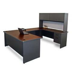 MLGPRNT59DTMA_8563 - Marvel GroupPronto® U-Shaped Desk w/Flipper Door Unit