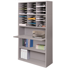 MLGUTMS8042_GRY - Marvel GroupMail Sorter with Adjustable Worksurface, Gray