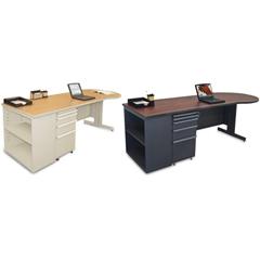 MLGZTCB8730_DT_FM - Marvel GroupTeachers Conference Desk w/Bookcase