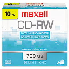 MAX630011 - Maxell® CD-RW Rewritable Disc