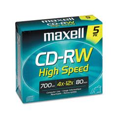 MAX630025 - Maxell® CD-RW High-Speed Rewritable Disc