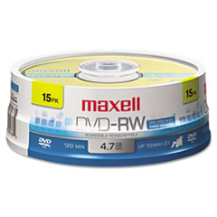 MAX635117 - Maxell® DVD-RW Rewritable Disc