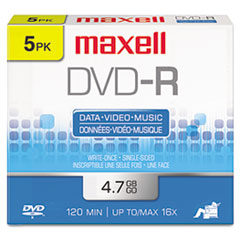MAX638002 - Maxell® DVD-R Recordable Disc