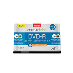 MAX638022 - Maxell® DVD-R Printable Recordable Disc