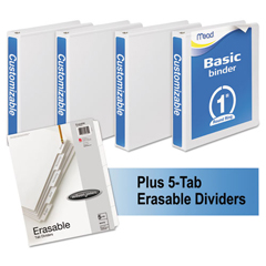 MEA66314WU - Mead® Economy Round-Ring View Binder Plus Pack