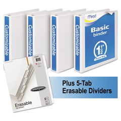 MEA66334WU - Mead® Economy Round-Ring View Binder Plus Pack