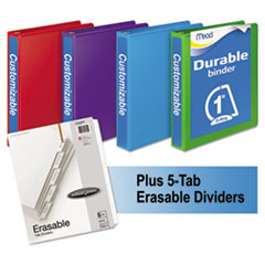 MEA66514AU - Mead® Durable D-Ring View Binder Plus Pack