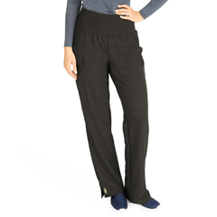 MED5560BLKXL - Medline - Ocean Ave Womens Stretch Fabric Support Waistband Scrub Pants, Black, XL