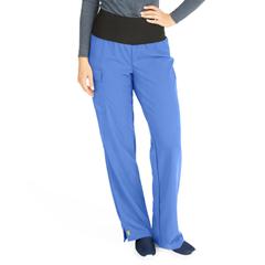 MED5560CBLMT - Medline - Ocean Ave Womens Stretch Fabric Support Waistband Scrub Pants, Blue, Medium