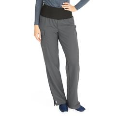 MED5560CHRMP - Medline - Ocean Ave Womens Stretch Fabric Support Waistband Scrub Pants, Black, Medium