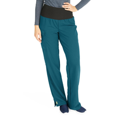 MED5560CRBSP - Medline - Ocean Ave Womens Stretch Fabric Support Waistband Scrub Pants, Blue, Small