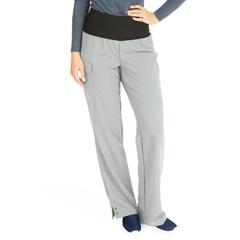 MED5560GRYXS - Medline - Ocean Ave Womens Stretch Fabric Support Waistband Scrub Pants, Black, XS