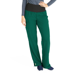 MED5560HTRXXLT - Medline - Ocean Ave Womens Stretch Fabric Support Waistband Scrub Pants, Green, 2XL