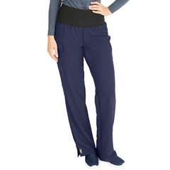 MED5560NVYXSP - Medline - Ocean Ave Womens Stretch Fabric Support Waistband Scrub Pants, Blue, XS
