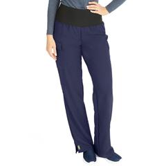 MED5560NVYXXLP - Medline - Ocean Ave Womens Stretch Fabric Support Waistband Scrub Pants, Blue, 2XL