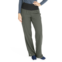 MED5560OLVXST - Medline - Ocean Ave Womens Stretch Fabric Support Waistband Scrub Pants, Green, XS